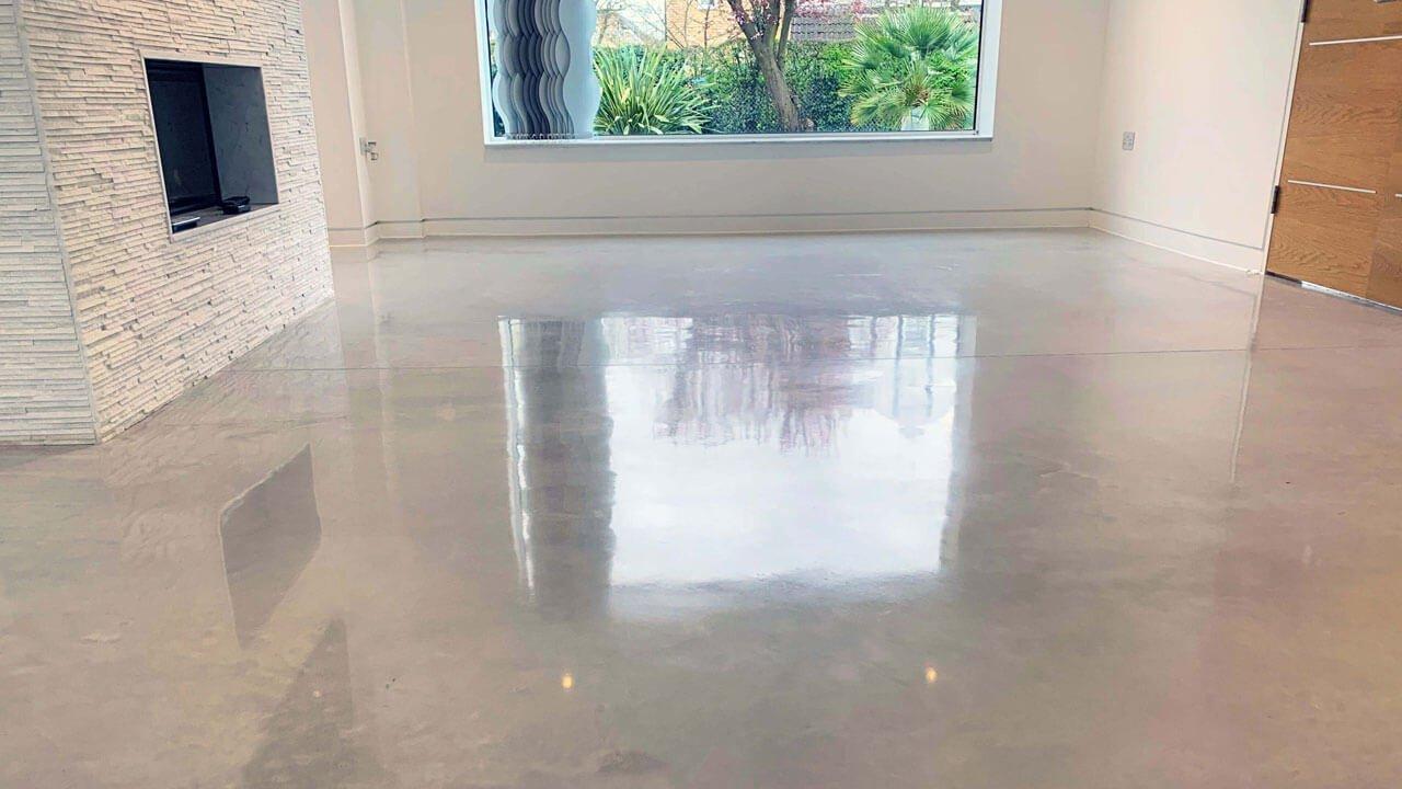 Polished Concrete Floor Living Room