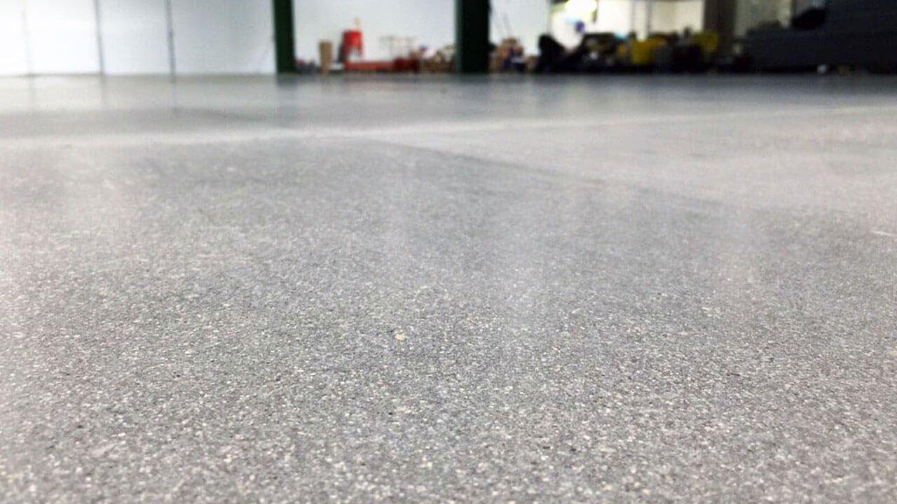 Salt And Pepper Polished Concrete Floor
