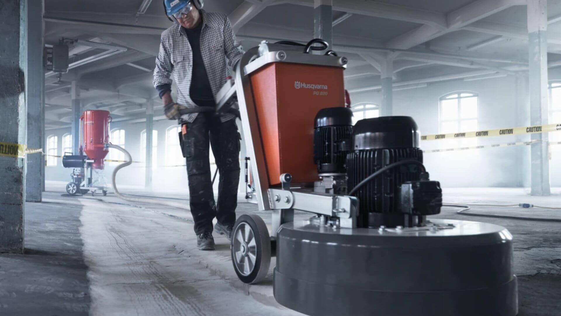 Grinding Down Concrete Floor