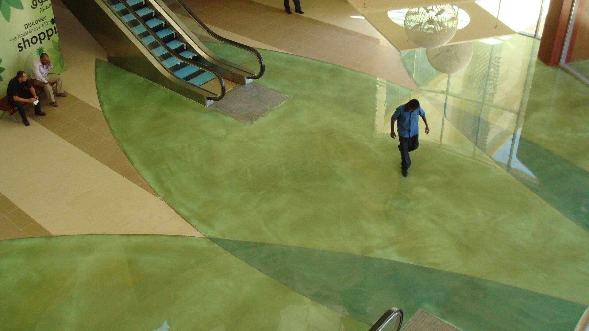 Epoxy Flooring In Shopping Centre